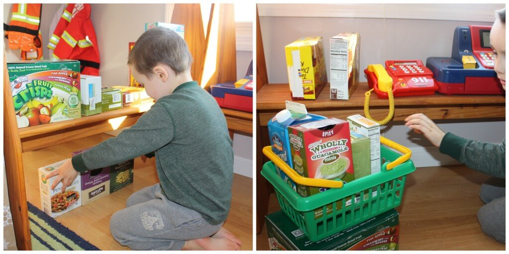 create recycle grocery set up