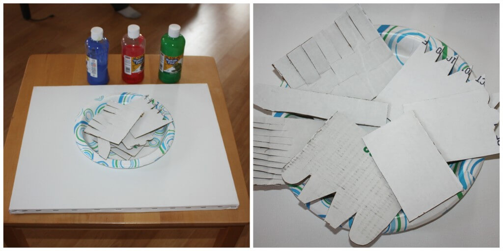 create recycle paint set up