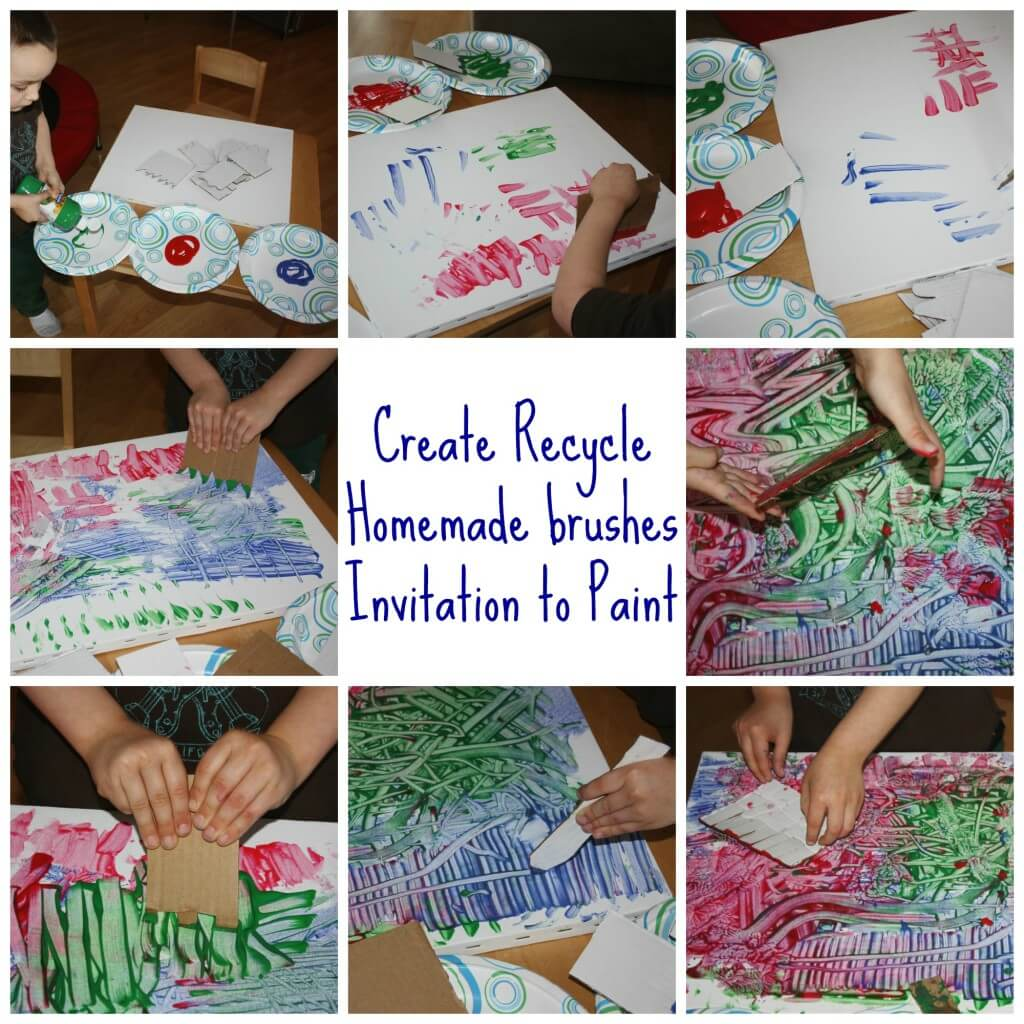 create recycle painting