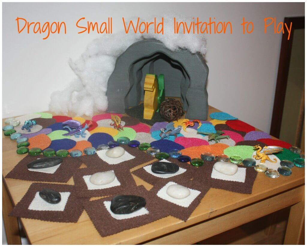 dragon small world invitation to play set up