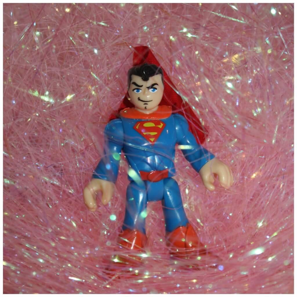 filling hearts sensory bin superman
