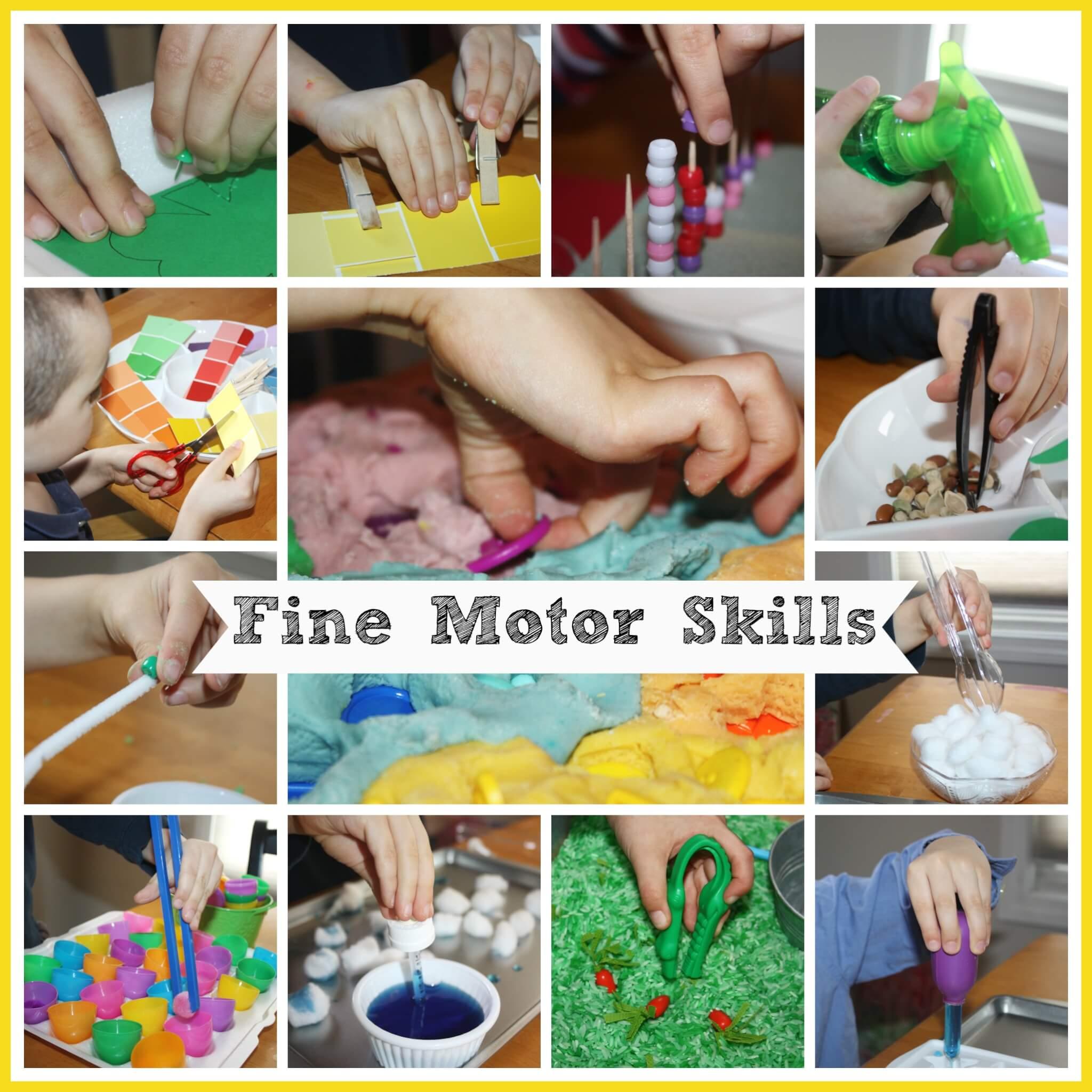 hand and fine motor skills