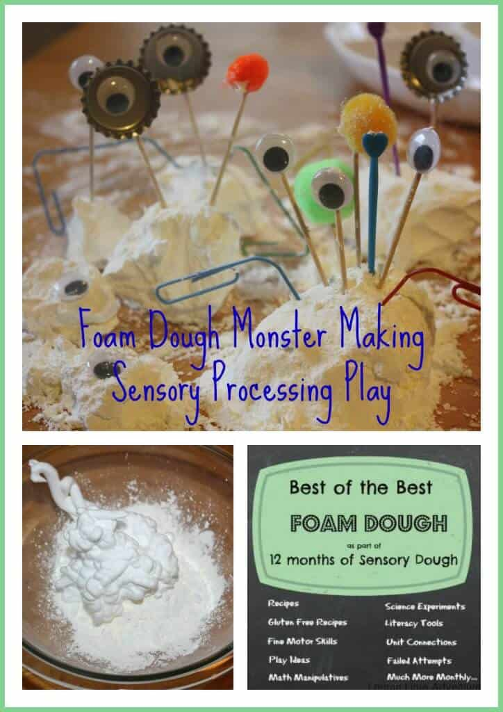 foam dough sensory play activity