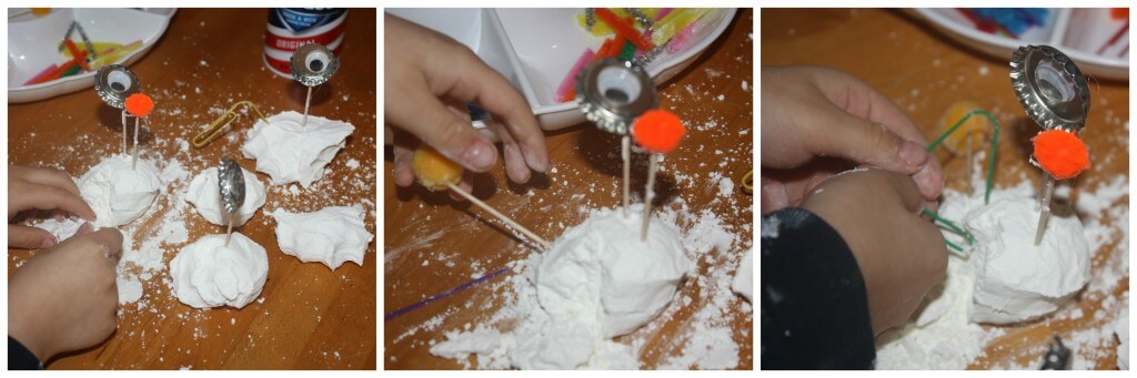 foam dough sensory play monster making fine motor