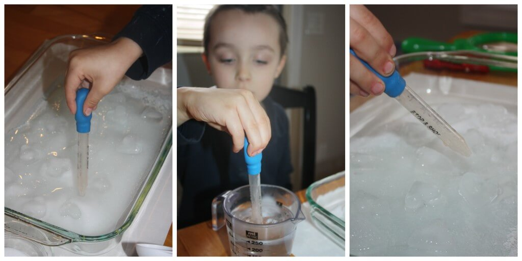 heart ice science experiment hot water