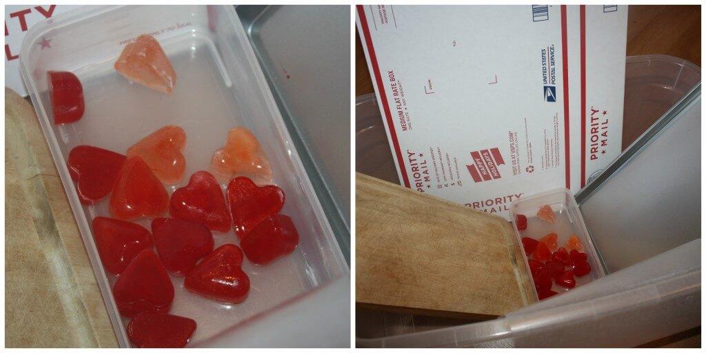 heart ice slide set up
