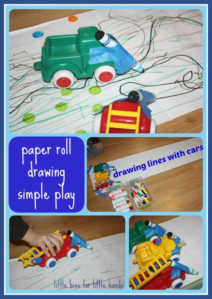 paper roll drawing car play