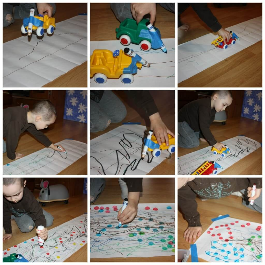 paper roll drawing play