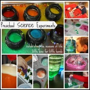 preschool science experiments page