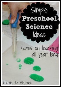 preschool science ideas