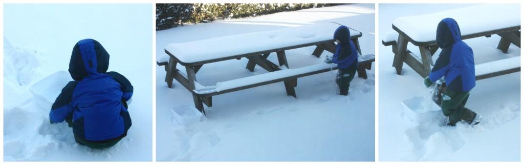 snow melt science gathering snow