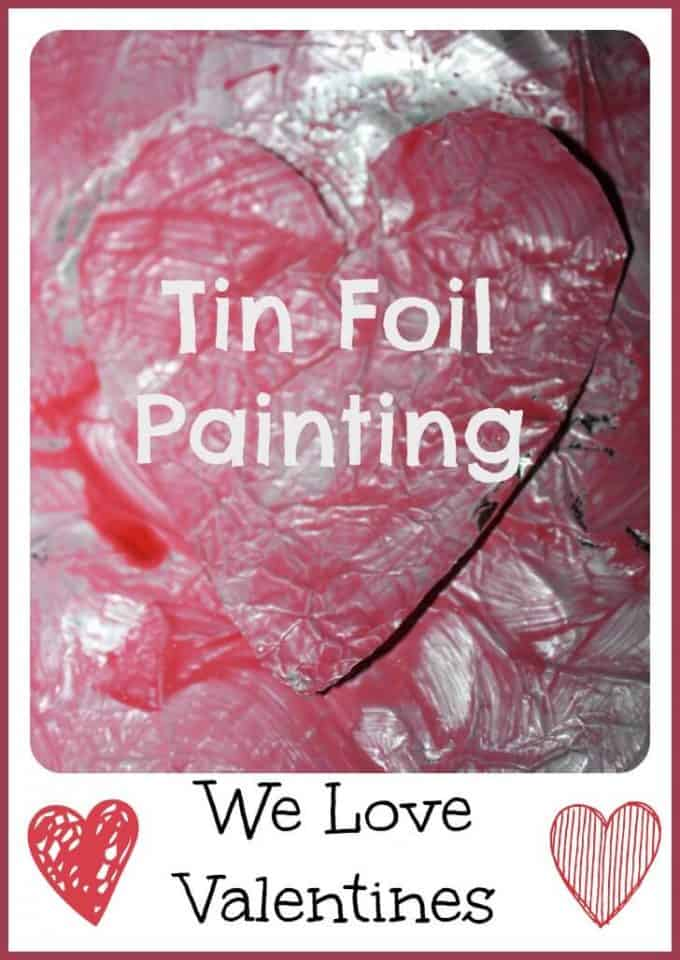 tin foil heart painting