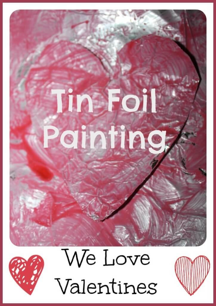 tin foil heart painting