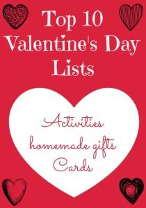 top 10 valentines lists