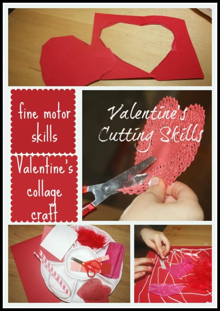 valentine cutting skills activity