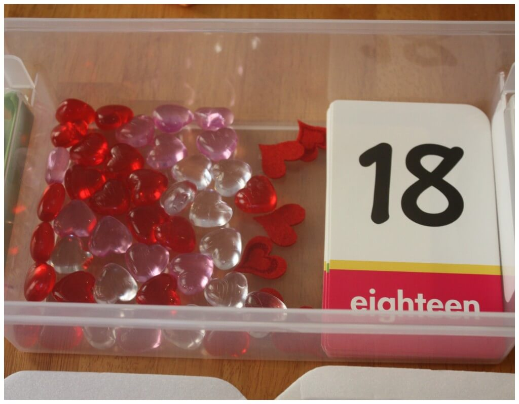 valentine early learning 11 counting to 20 set up