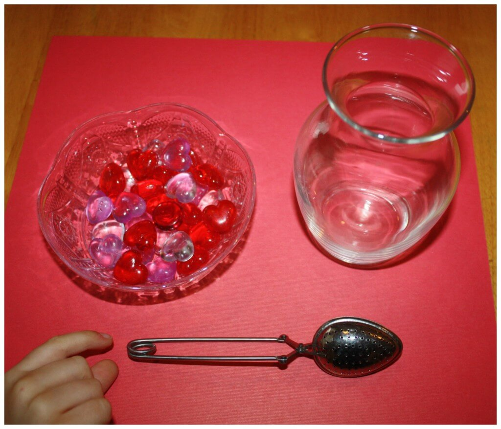 valentine fine motor transfer set up