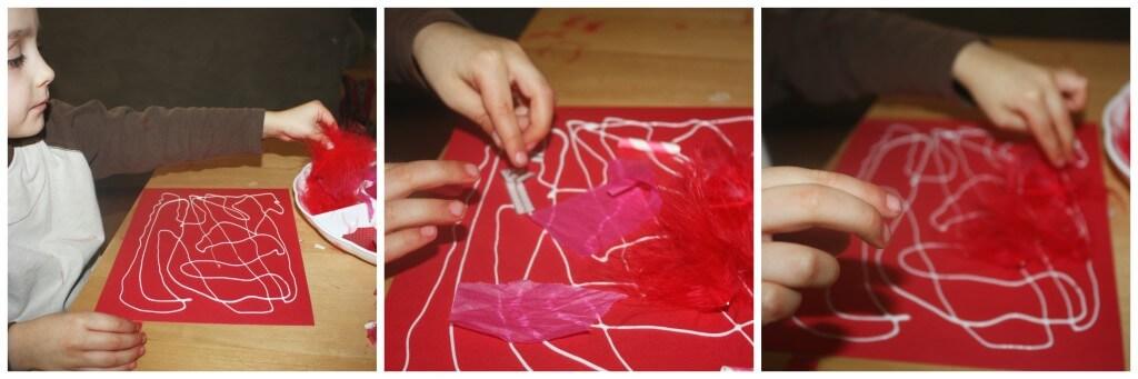 valentines cutting skills collage making