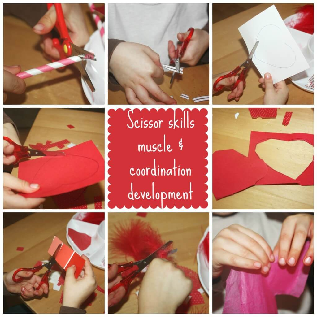 valentines cutting skills fine motor work
