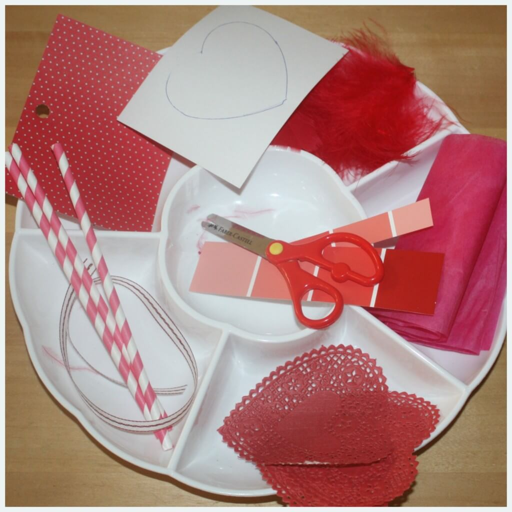 valentines cutting skills set up
