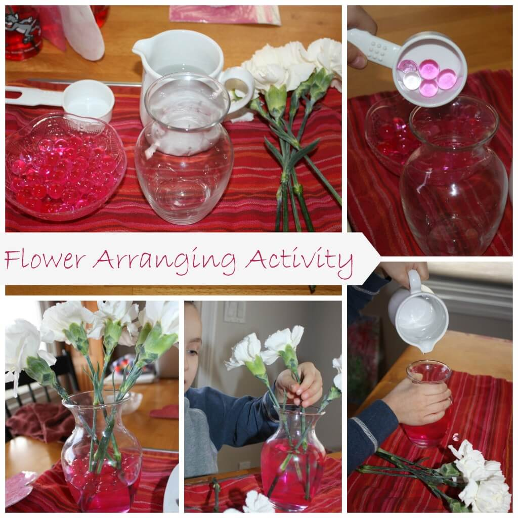 valentines flower arranging activity