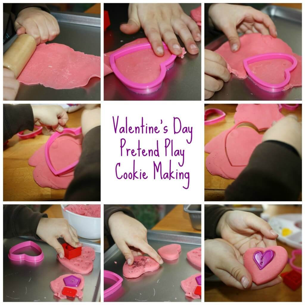 valentines play dough cookies pretend play