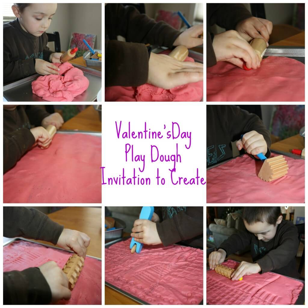 valentines play dough smooth ing play dough  and tools invitation