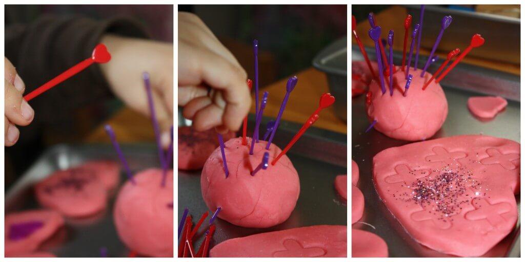 valentines play dough toothpicks