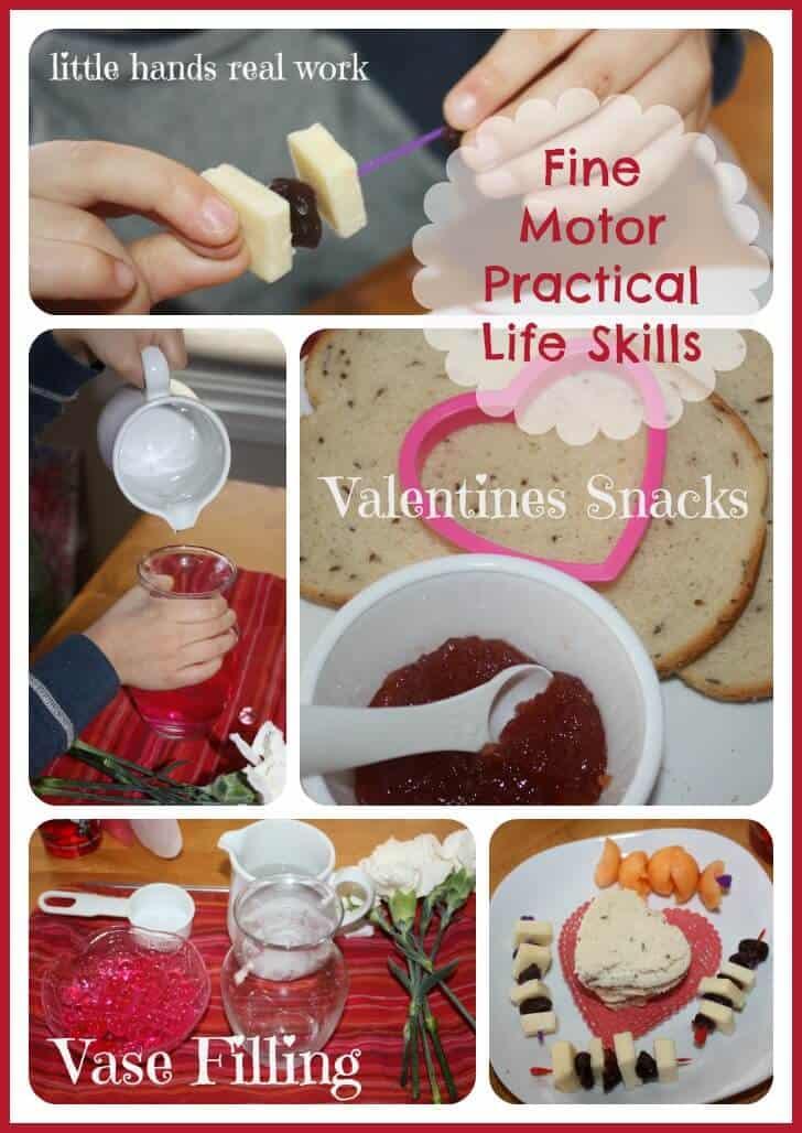 Fine Motor Skills Preparing Valentines Snacks
