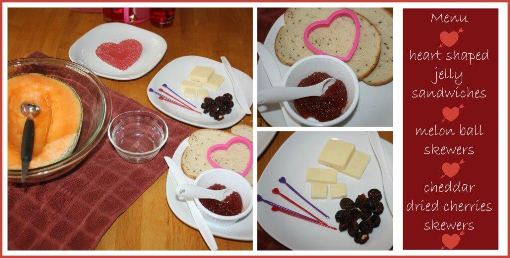 valentines snack making menu