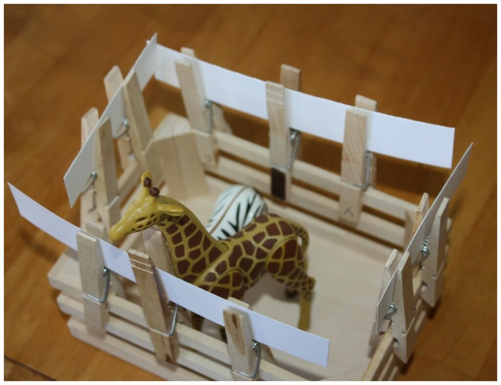 zoo fine motor skills finished fence