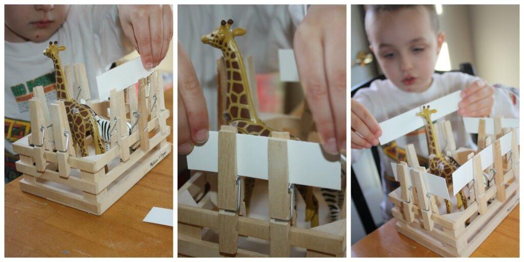 zoo fine motor skills paper strips