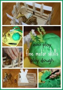 zoo play fine motor skills