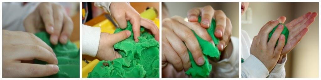 zoo theme fine motor skills hand working play dough