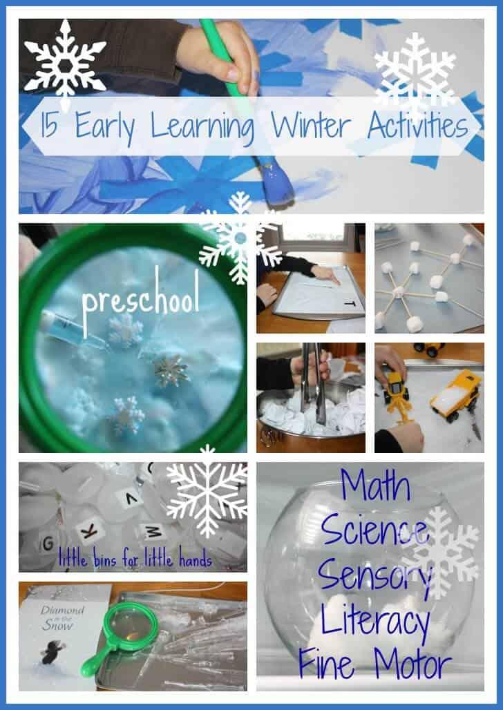 15 Preschool Winter Early Learning Activities Little