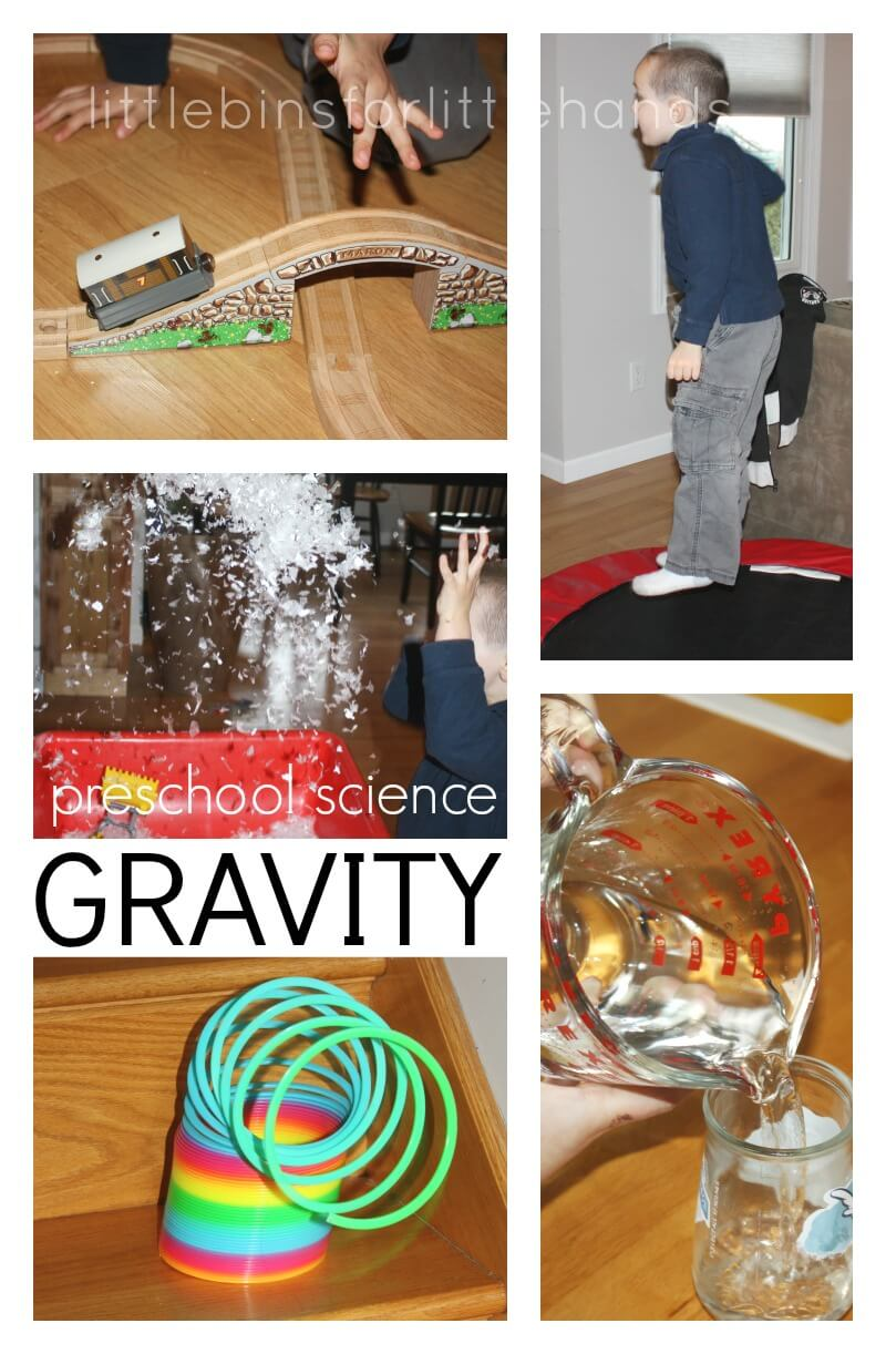 gravity science experiments and activities for kids