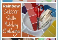 Rainbow Scissors Skills Matching & Collage