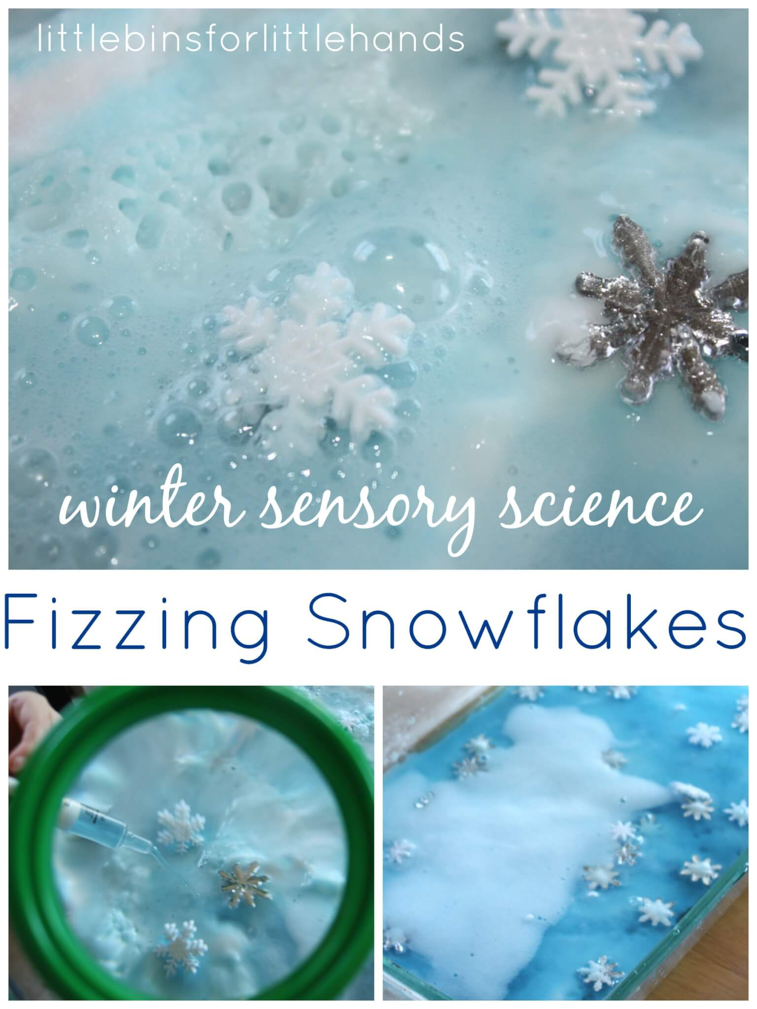 winter snowflake baking soda science experiment saturday science
