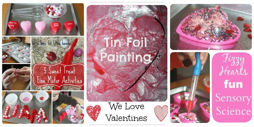 Valentines Day Activities sweets, painting, fizzy