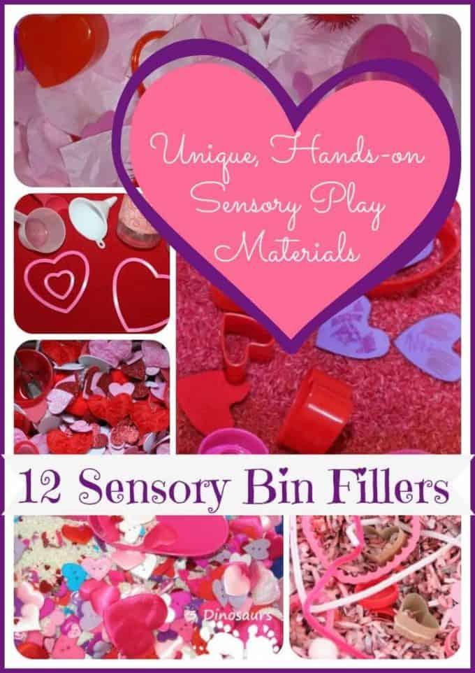 Valentines Sensory Bin Fillers