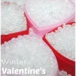 Valentines hearts sensory bin