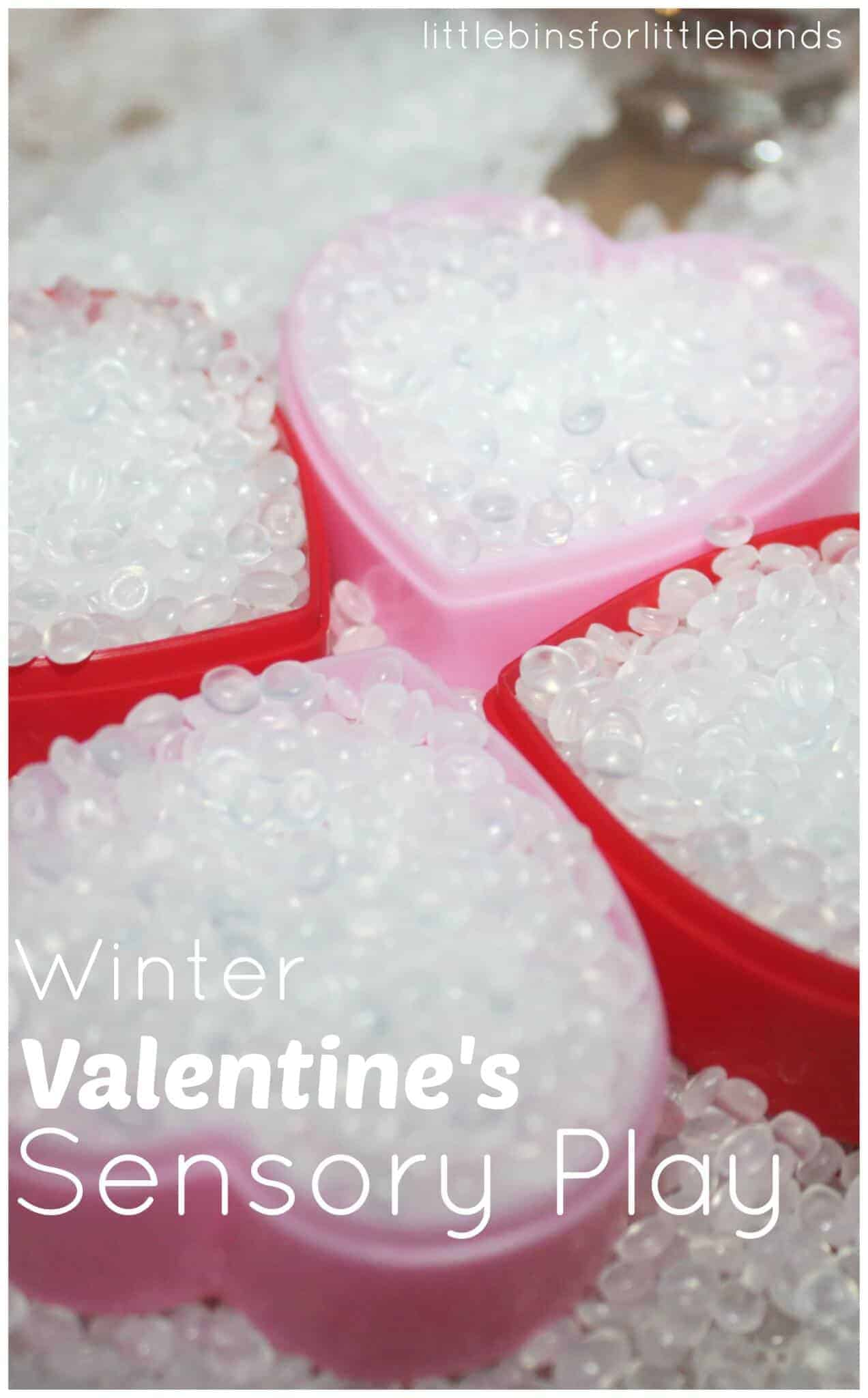 Winter Hearts Sensory Bin
