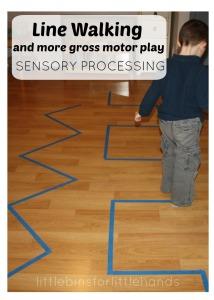 Walking Lines Rolling Balls Gross Motor Sensory Play Ideas Sensory Processing