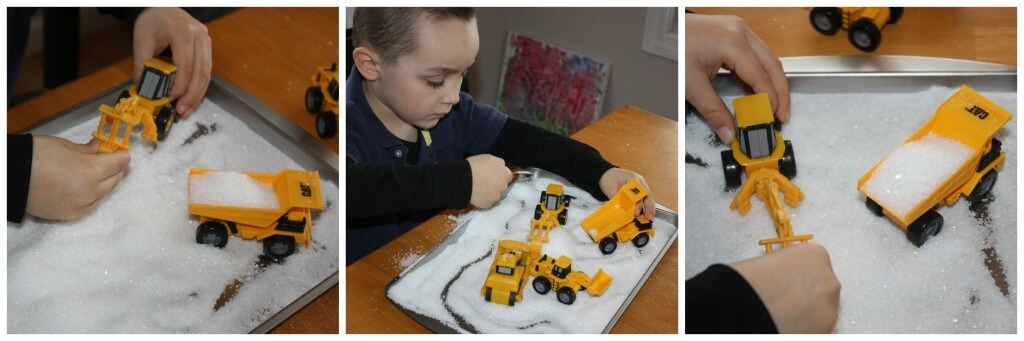 Winter Early Learning Sensory Salt Tray Truck Play