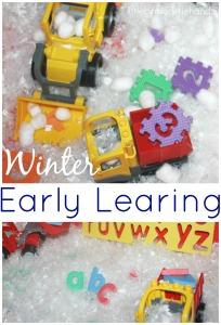 Winter Math Sensory Play Alphabet Letter Sensory Play Puzzle Play