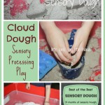 cloud dough sensory play activity