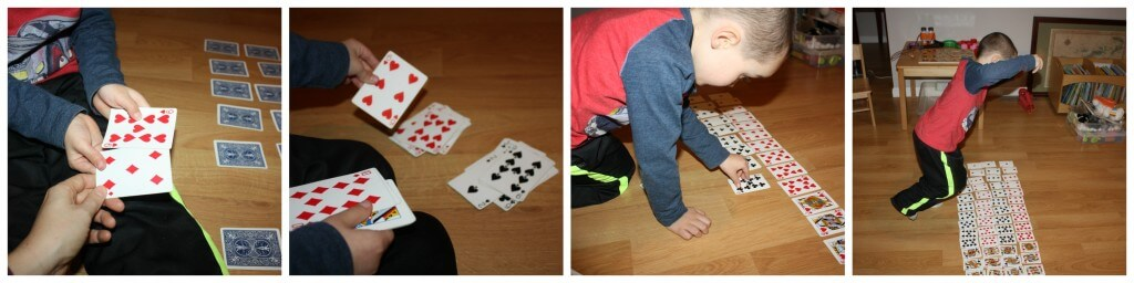 deck of cards early learning