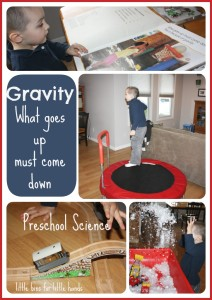 gravity preschool science experiment activity
