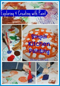 kitchen utensil painting activity