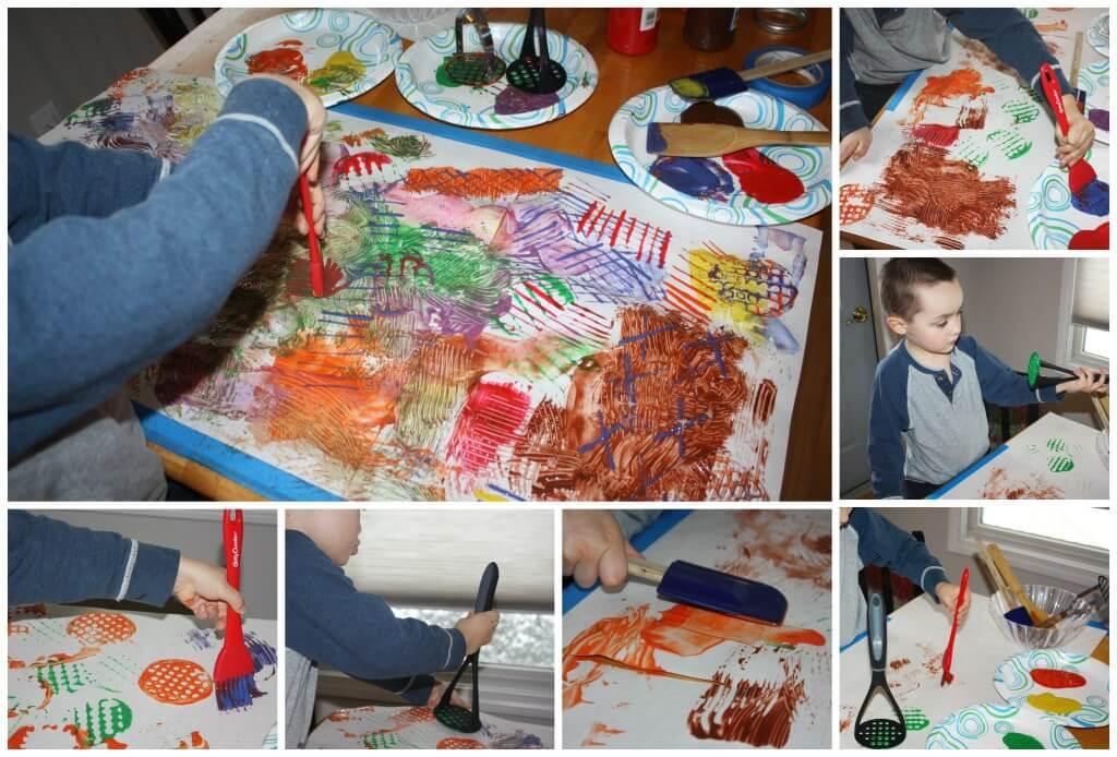 kitchen utensil painting making art
